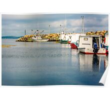 Fishing Boats at Feltzen South Poster