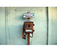 Telephone d'alarme Photographic Print