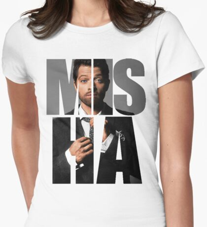 Misha Misha Misha Collins Womens Fitted T-Shirt