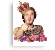 Poodiepie - The King Canvas Print