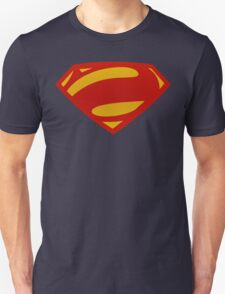 Man Of Steel Bizarro Red Textured Logo T-Shirt
