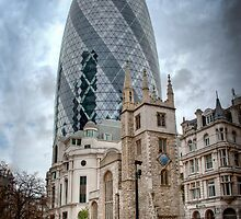 Moody Gherkin: London, UK. by DonDavisUK