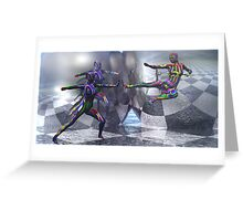 Crystal and Chrome-2 Light Bending  Tools Greeting Card