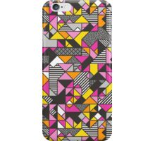 Geometric Shapes and Triangles Pink iPhone Case/Skin