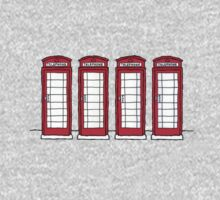 london phone booths by Stacey Creek