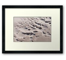 Lumps of crusty sand Framed Print