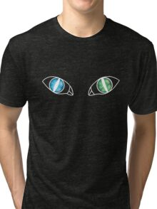 Cat Eyes - Sea and Land (White) Tri-blend T-Shirt