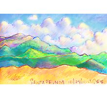 The Magical Mountains of Santa Fe Photographic Print