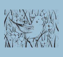 Cockatiel in Grass Kids Tee