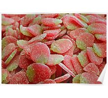 Strawberry Gummy Candy Poster