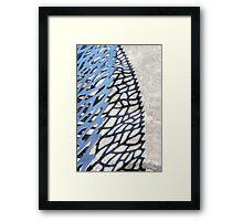 steel, shadow, stone Framed Print
