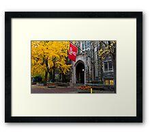 Fall colors,Temple university, Philadelphia Framed Print
