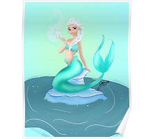 Elsa as a mermaid Poster