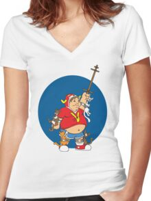 Voltrouble Women's Fitted V-Neck T-Shirt