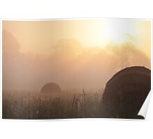 Foggy Morning on the Farm, As Is Poster