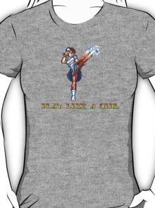 Play Like A Girl (Chun-Li) T-Shirt