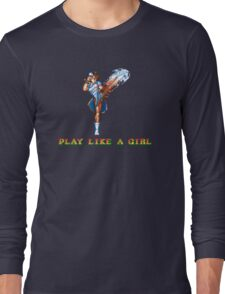Play Like A Girl (Chun-Li) Long Sleeve T-Shirt