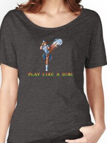 Play Like A Girl (Chun-Li) Women's Relaxed Fit T-Shirt