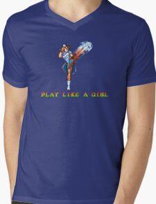Play Like A Girl (Chun-Li) Mens V-Neck T-Shirt
