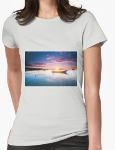 Let it Float - Sunset in Belize Womens Fitted T-Shirt