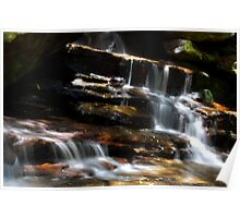 Over Rocks - Somersby Falls    Poster