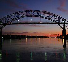 Bourne bridge & railroad bridge by Poete100