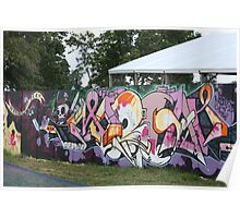 Fence Art Poster