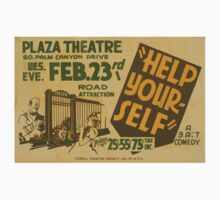 WPA United States Government Work Project Administration Poster 0750 Plaza Theatre Help Yourself One Piece - Short Sleeve