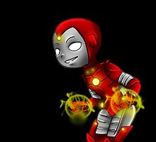 YA Chibi Iron Lad (Nate Richards) by artsy-alice
