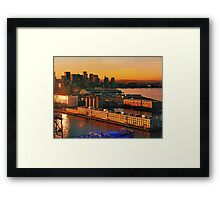 Boston is waiting for you  Framed Print