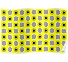 Beautiful Cushions/Extreme polka dot/ Yellow Black Poster