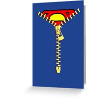Supermen Zip Greeting Card