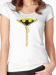 Batmen Zip Women's Fitted Scoop T-Shirt