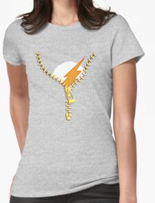 Flash Zip Womens Fitted T-Shirt