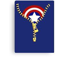 Captain America zip Canvas Print
