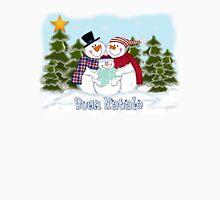 Snowman Family Buon Natale Unisex T-Shirt
