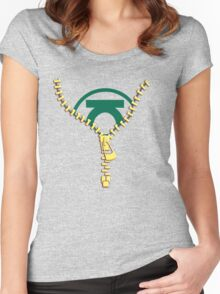 The Green Lantern zip Women's Fitted Scoop T-Shirt