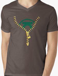 The Green Lantern zip Mens V-Neck T-Shirt