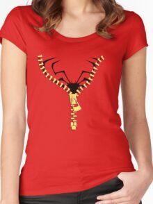 The Spidermen zip  Women's Fitted Scoop T-Shirt