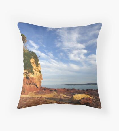 Bar Beach at Merimbula Throw Pillow