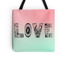 'LOVE' mandala Tote Bag