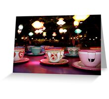 tea cups of delight Greeting Card