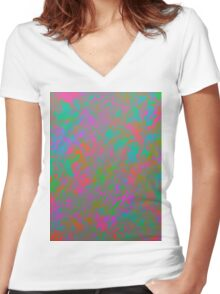 Splashes of Color Women's Fitted V-Neck T-Shirt