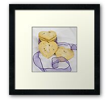 Lavender Shortbread Biscuits Framed Print
