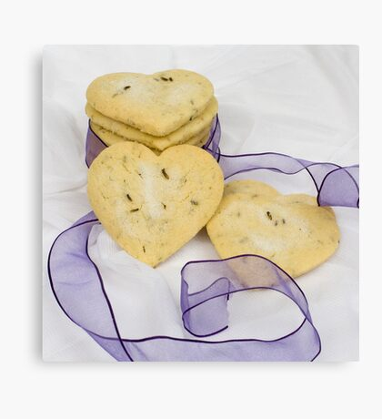 Lavender Shortbread Biscuits Canvas Print