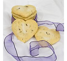 Lavender Shortbread Biscuits Photographic Print