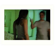 he pointed the finger - hotel room series Art Print