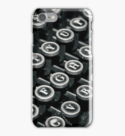 Old typewriter - keys iPhone Case/Skin