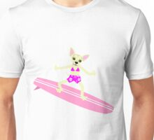Chihuahua Surfer Girl Unisex T-Shirt