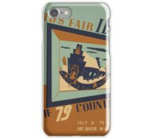 WPA United States Government Work Project Administration Poster 0745 World's Fair IBM Show iPhone Case/Skin